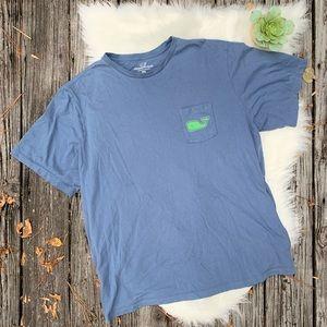Vineyard Vines Mens XXL Palm Tree Whale T Shirt